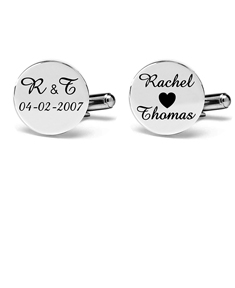 Engraved Couple Cufflinks