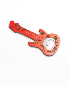 Personalized Guitar Shape Bottle Opener