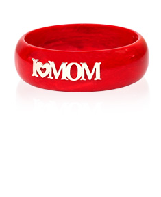 "Personalized ""I (Heart) Mom Stacking"" Bracelet"