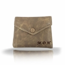 Personalized Mini Clutch Leather Wallet