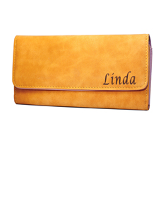 Personalized Leather Clutch