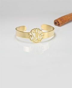 Gold Personalized Monogram Bracelet