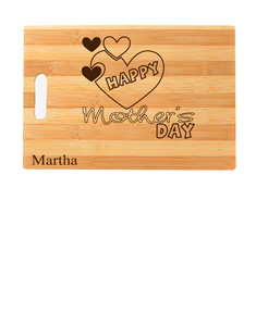 "Personalized ""Happy Mother's Day"" cutting board"