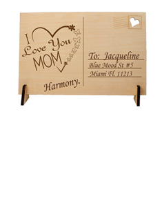 "Personalized ""Mother's Day"" Wooden Postcard"
