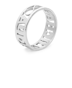 Personalized Sculpted Cut-Out Name & Infinity Ring