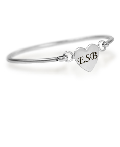 Personalized Heart Baby  Bracelet