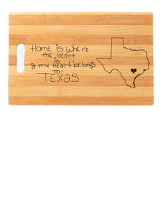 Personalized Handwritten State Cutting Board