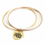 Personalized Trio Color Bangle with Heart Charm