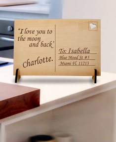 Personalized Wooden Postcard