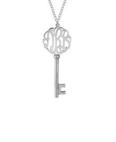 Script Monogram Key Necklace