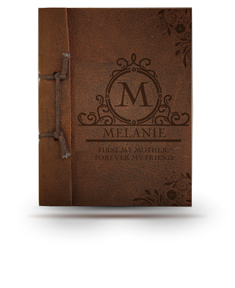 First My Mother Forever My Friend Antiqued Leather Note Book