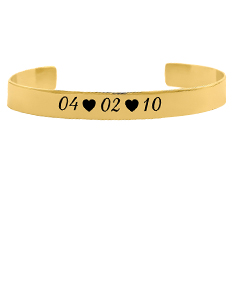 Special Date Engraved Bangle