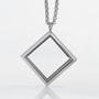 Square Locket with 4 Floating Motifs of your choice