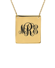 Square Personalized Pendant
