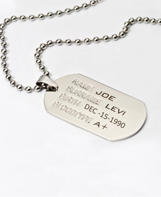 Stainless Steal Bulk Dog Tags