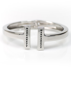 Stainless Steel 'H' Engraved Bangle