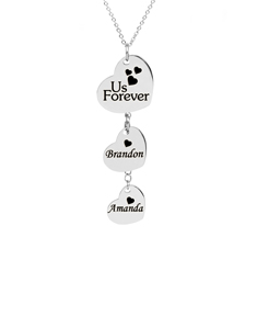 Stainless Steel Hanging Heart Personalized Necklace