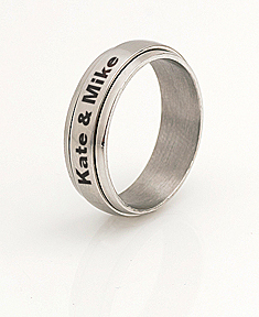 Stainless Steel Spinner Ring for Her