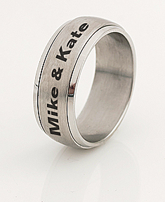 Stainless Steel Spinner Ring for Him