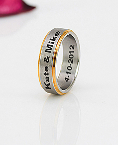 Stainless Steel Two Tone Band for Her