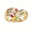 Adam & Eve Family Ring with Stones & Engraving