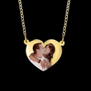 Heart Shaped Color Portrait Pendant