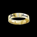 Couples' Band for Him with 3 Cubic Zirconia Stones