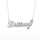 "Name Pendant w/diamond cut ""Brittany"""