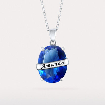 Birthstone Pendant with Oval Stone
