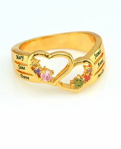 Personalized with Engraving  Adam & Eve Family Ring