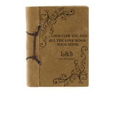 """""""The Love Songs"""" Antique Style Notebook"""