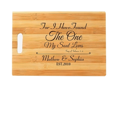 """""""The One"""" Engraved Cutting Board"""