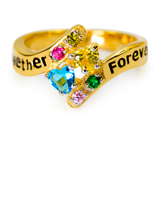 """Together Forever"" Ring with Birthstones"