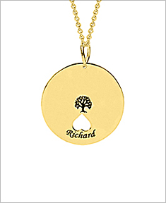 Tree of Life Necklace with Cut Out Hearts