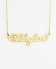 Trendy Sterling @ Name Necklace