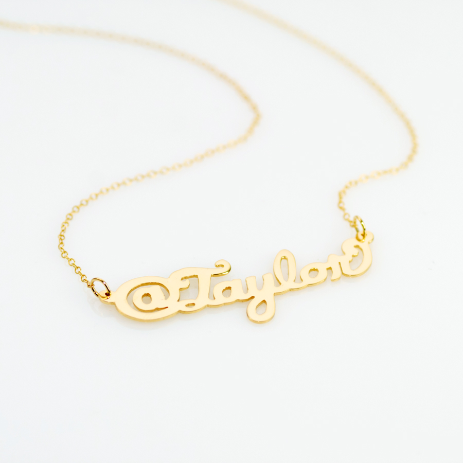 Sterling @ Name Necklace
