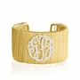 Twisted Wire Bangle with Monogram