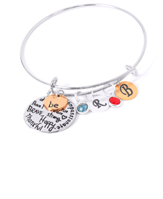 Two Tone Be Graffiti Bangle