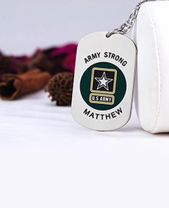 U.S. Army Tag Pendant with Engraving
