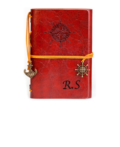 Classic Leatherette Writing Journal with Compass Embossing
