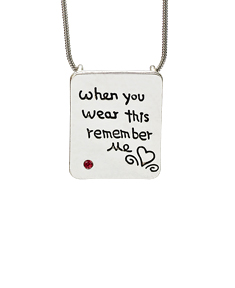 When You Wear This Remember Me