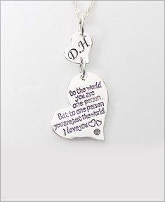 You Are Just The World Necklace with Initials