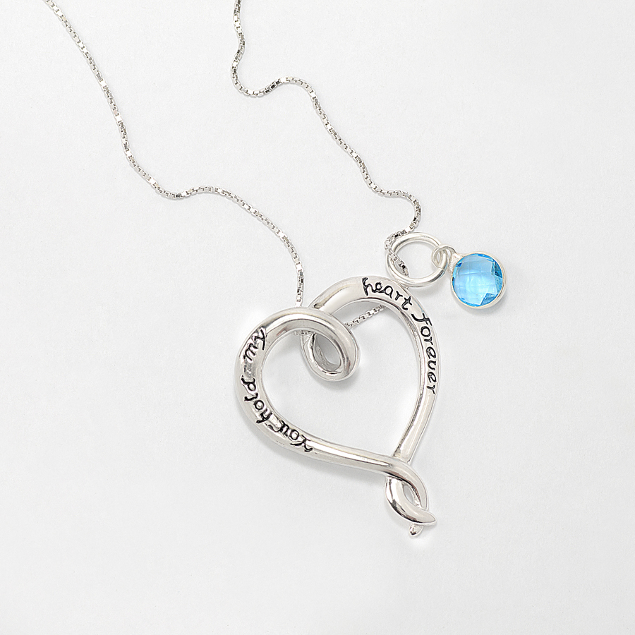 You hold my heart forever pendant aloadofball Choice Image