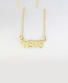 Gold Zip Code Necklace