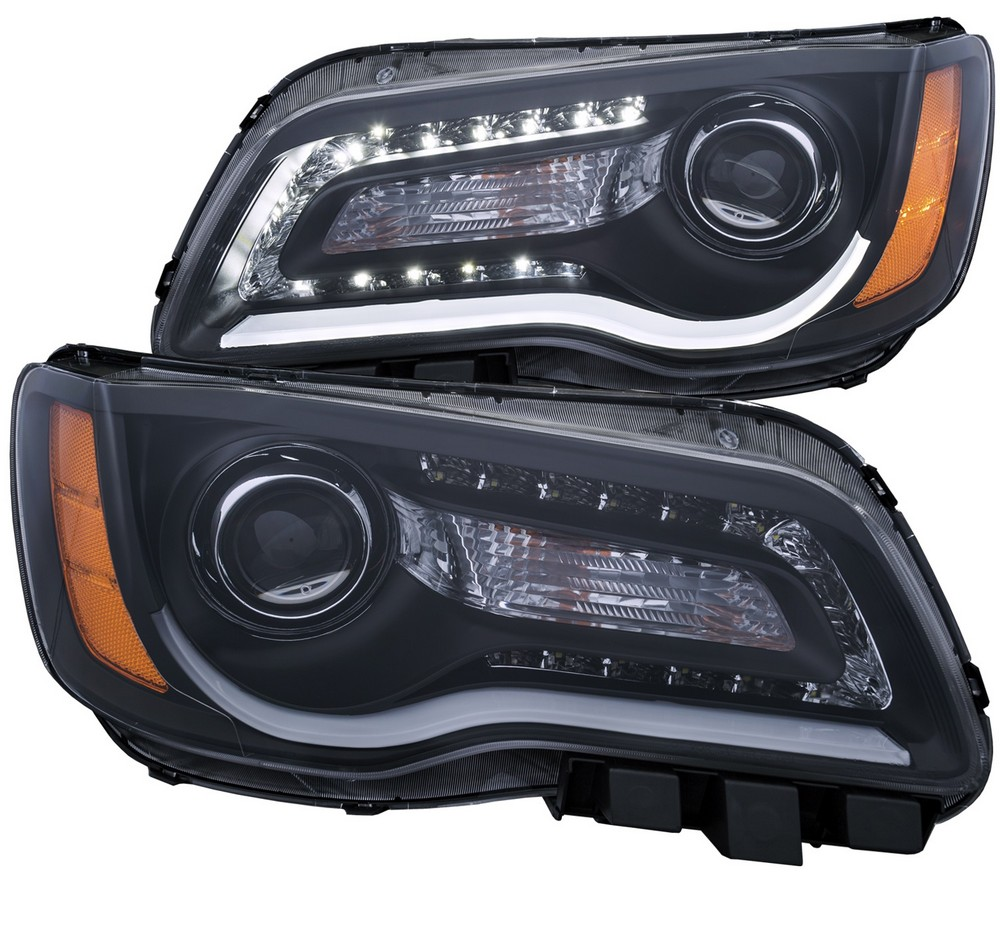 ANZO Projector Headlights W/ Plank Style Design Black 2011