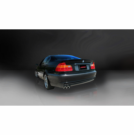 "CORSA 2.25"" Single Rear Cat-Back Exhaust 1999-2006 BMW 325i/is E46 Sedan"