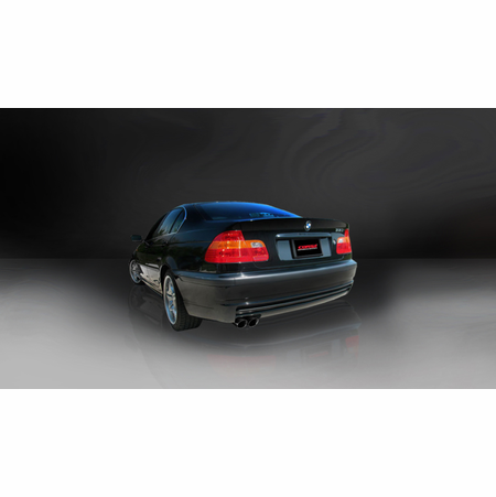 "CORSA 2.25"" Single Rear Cat-Back Exhaust 1999-2006 BMW 330i/is E46 Coupe"