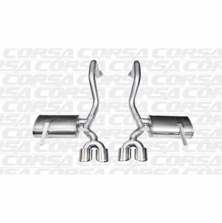 "CORSA 2.5"" Dual Rear Axle-Back Exhaust 1997-2004 Chevrolet Corvette C5 5.7L V8"