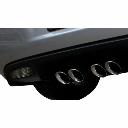"CORSA 2.5"" Dual Rear Axle-Back Exhaust 2005-2008 Chevrolet Corvette C6 6.0L V8"