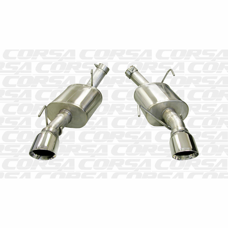 "CORSA 2.5"" Dual Rear Axle-Back Exhaust 2005-2010 Ford Mustang GT 4.6L V8"
